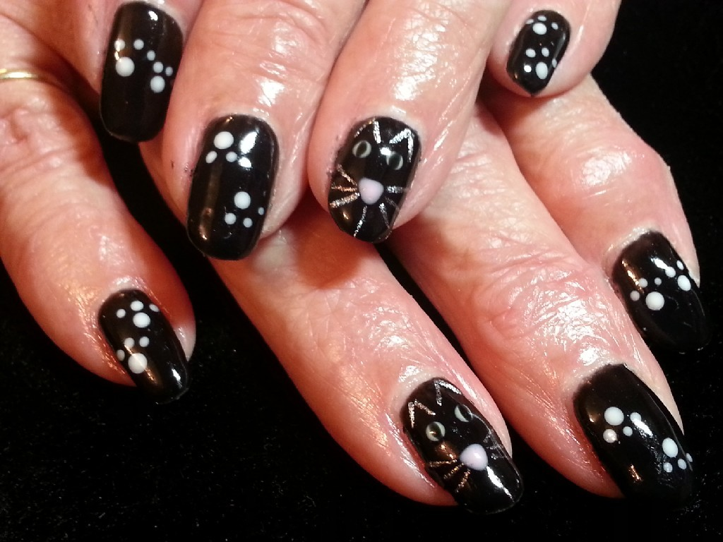 21 impressive nail art with black nail polish ledufa impressive nail art with black nail polish 20 at inspiration article prinsesfo Images
