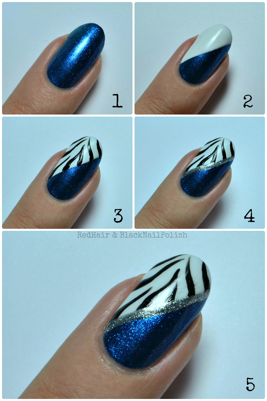 Zebra Nail Art Tutorial | Nail Art Tutorial | Nail Design Tutorial