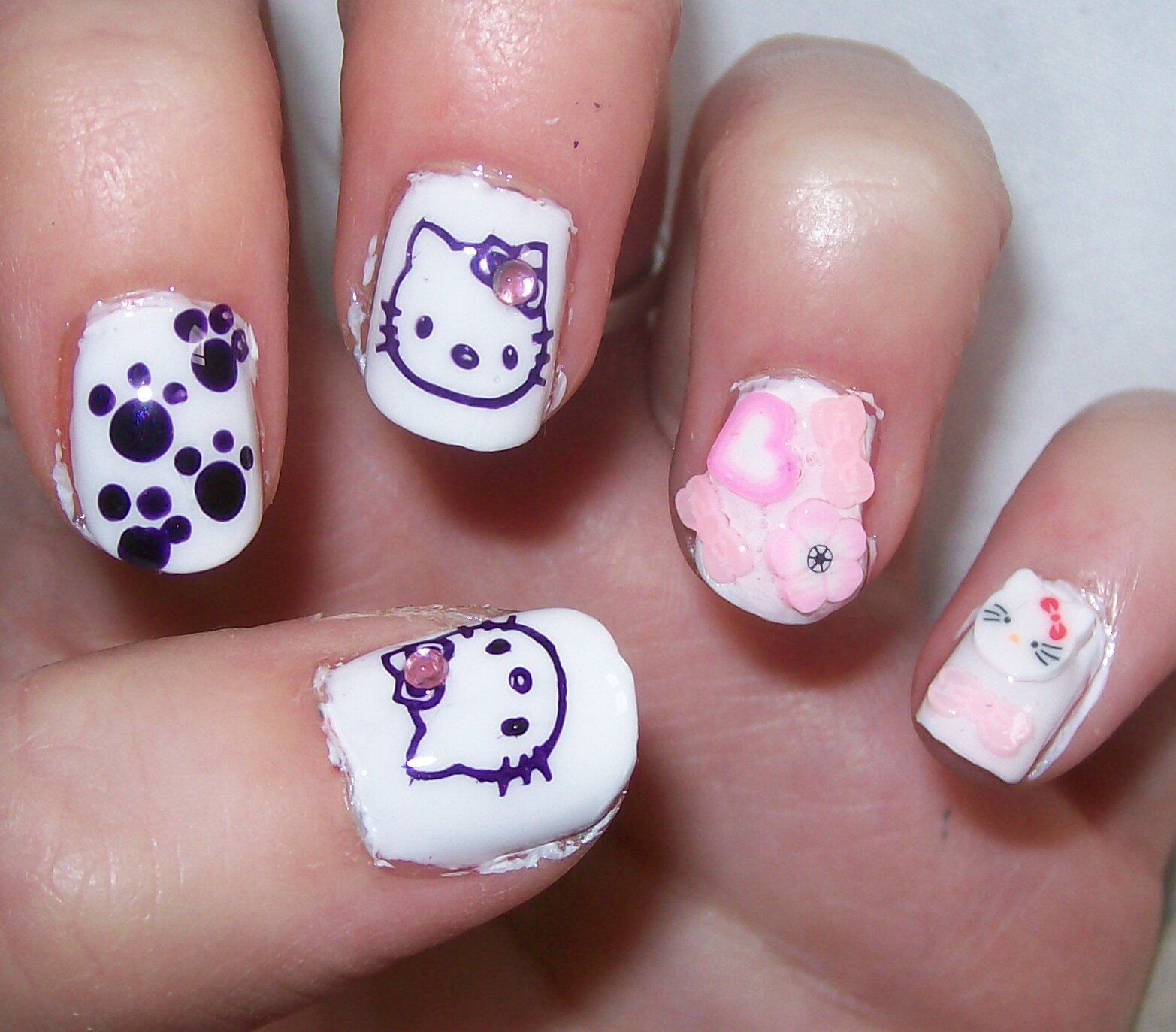 Cute nail art nail art easy designs cute nail designs cute nail art prinsesfo Image collections