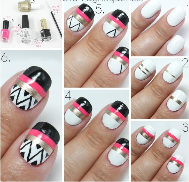 Simple Nail Tutorials At Home Nail Art Tutorials