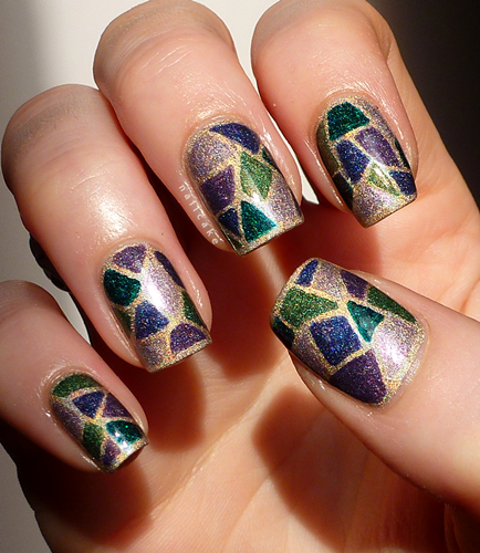 stained glass nail art 1 Top 10 Stained Glass Nail Art