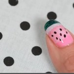 watermelon nail art design 150x150 10 Nail Art Designs