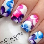 Easy Flower Nail Art Designs