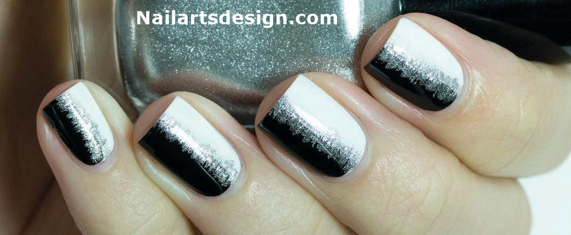 Black Nail Art Designs White Nail Art Designs