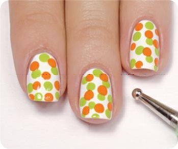 nail art step by step 31 Neon Dots Nail Art Step by Step