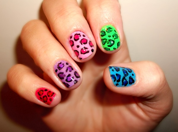 Amazing Nail Art Designs Compilation : Colorful nail art design amazing designs