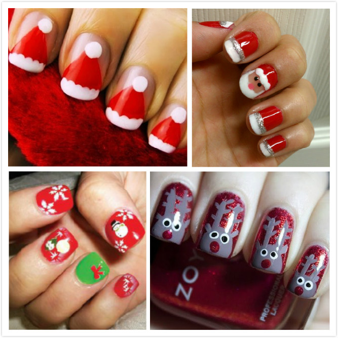 Christmas nail art ideas and nail ideas for christmas christmas nail art ideas solutioingenieria Gallery