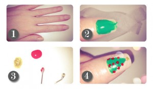 Christmas Nail Art Step by Step