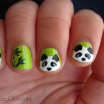 Fuzzy Panda Nails