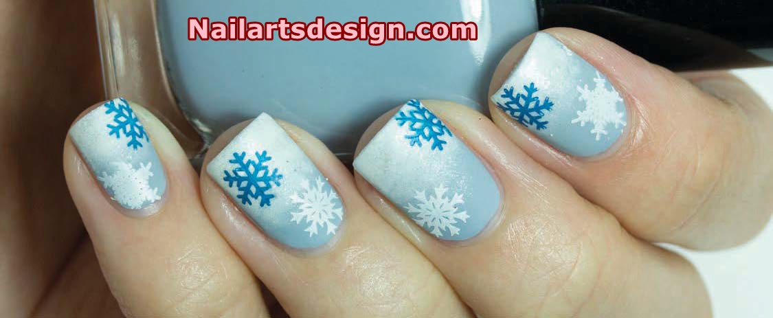 winter nail art 3 Snowy Winter Nail Art
