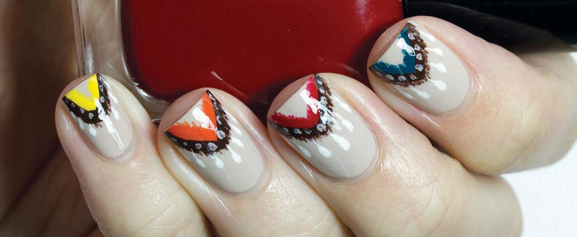 Native American-Inspired Nail Art