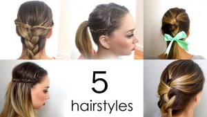 5 Quick and Easy Everyday Hairstyles in 5 minutes
