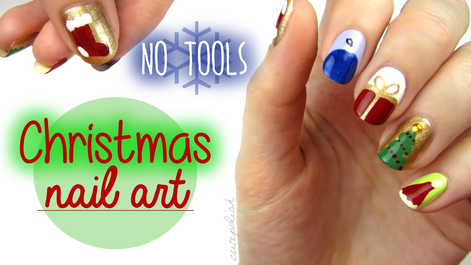 10 Beautiful Diy Christmas Nail Art Designs Step By Step