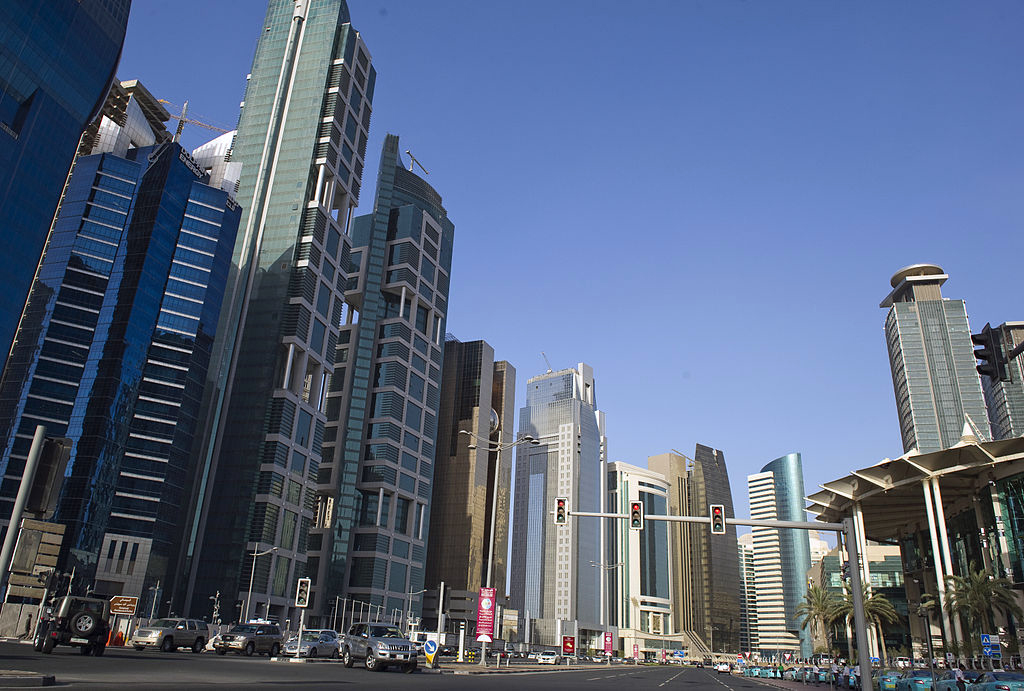 Doha – A modern city with numerous parks and the Corniche Promenade
