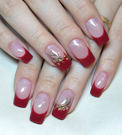 red pink wedding nail art Simple and beautiful Red color nail art designs