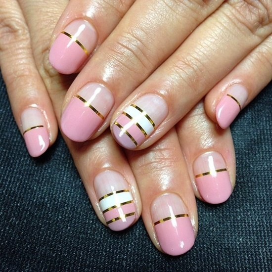Stylish Pink Nail Art