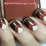 Layered Triangle Nail Arts Design